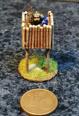 Small watchtowers, resin printed/casted, 15mm scale,  4 EUR each picture 1