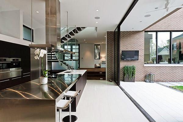 cocina moderna en acero