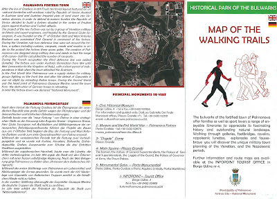 Palmanova walking map, brochure with map and routes.