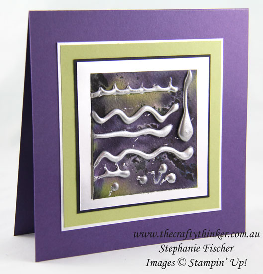 www.thecraftythinker.com.au, Hot Glue Embossing technique, #thecraftythinker, #stampinup, Stampin Up Australia Demonstrator, Stephanie Fischer, Sydney NSW