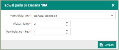 pengisian alokasi jam bahasa indonesia