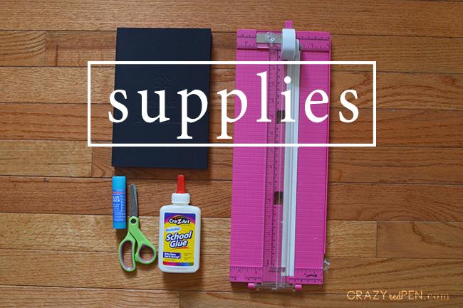 Travel Journal DIY Supplies