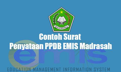 Download Contoh Surat Penyataan PPDB EMIS Madrasah
