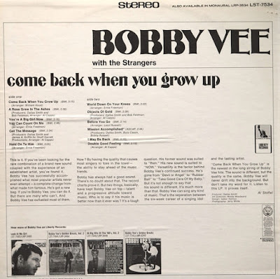 Bobby Vee & The Strangers - Come Back When You Grow Up (1967 USA)