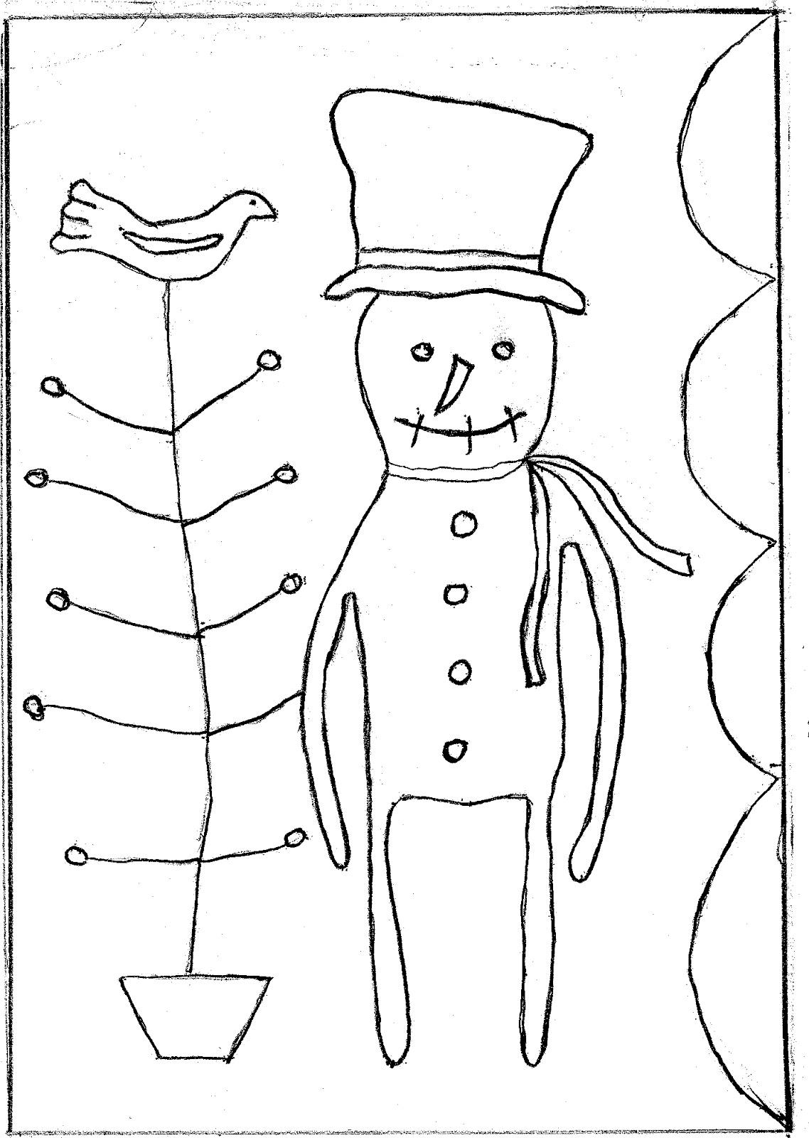 Printable Snowman Patterns