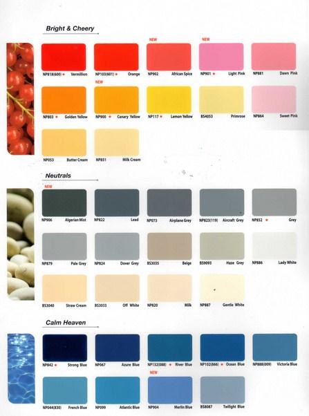 contoh warna cat tembok avian