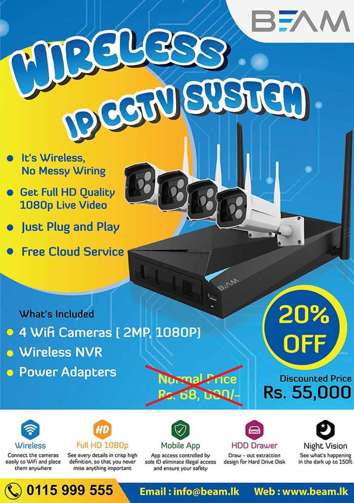 BEAM | 20% OFF on all Wireless CCTV Cameras & Alarm Systems