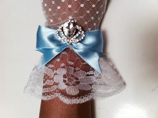 mavi fiyonk gelin eldiveni sahil düğünü
