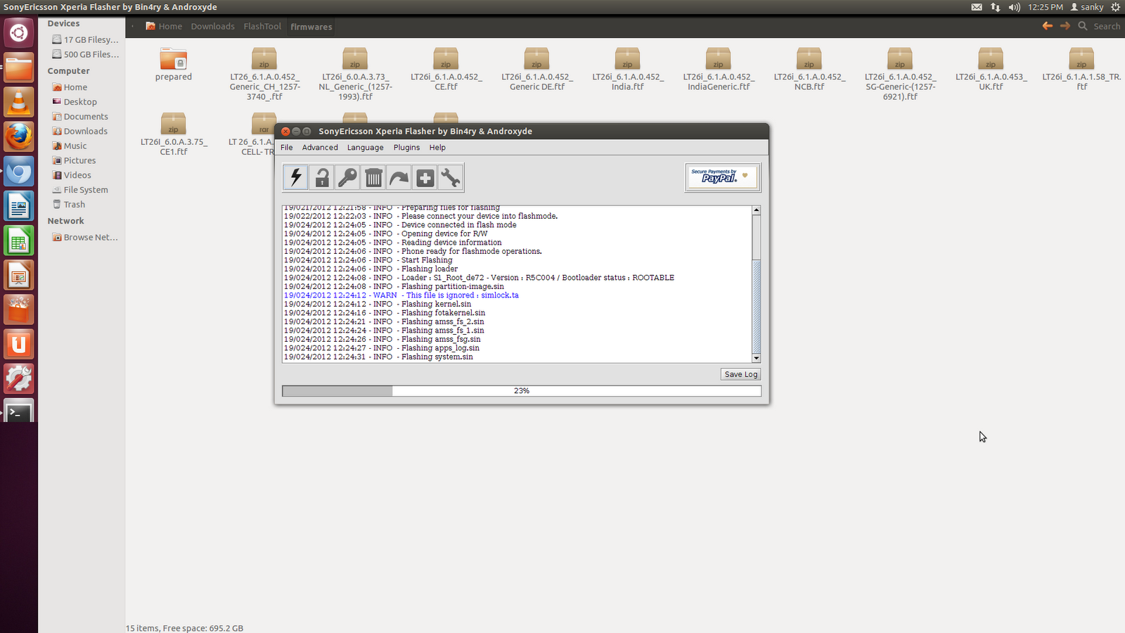 My experiments with Linux: Flashtool in Ubuntu Linux