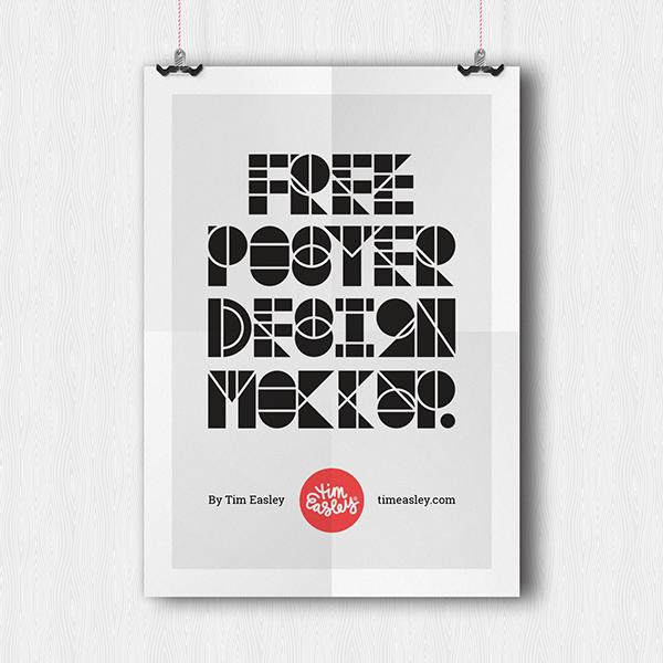 Poster Design Mockup PSD