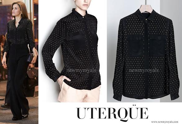 Queen Letizia wore Uterque Blouse