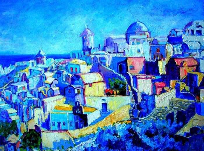 Яркие цвета и выразительные текстуры. Ana Maria Edulescu