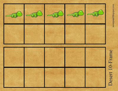 FREE Themed 10- and 20- Frames Printable for Elementary Math from In Our Pond