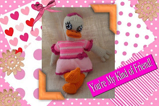 cute crochet amigurumi duck dolly