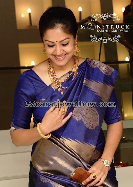 Jyothika in Ruby Necklace
