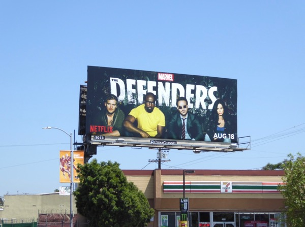 Defenders TV billboard