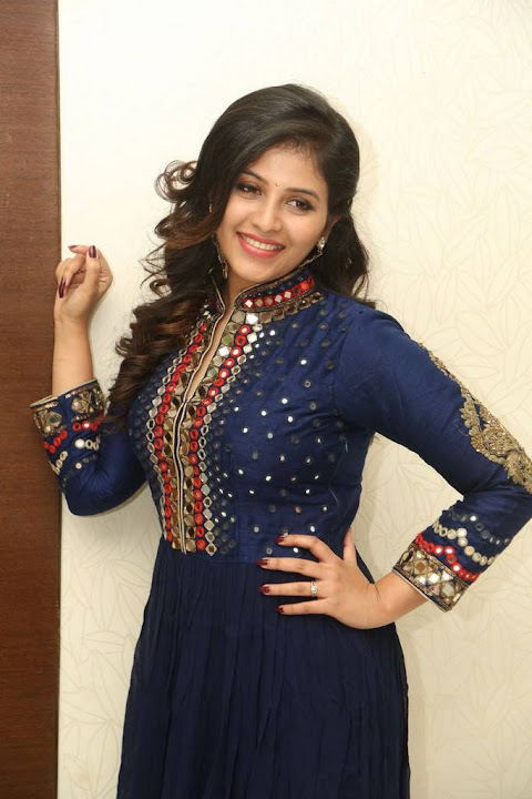 Anjali at Chitrangada Movie Pre Release Function
