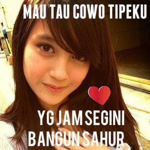 Gambar Ucapan Sahur dari Nabila JKT48