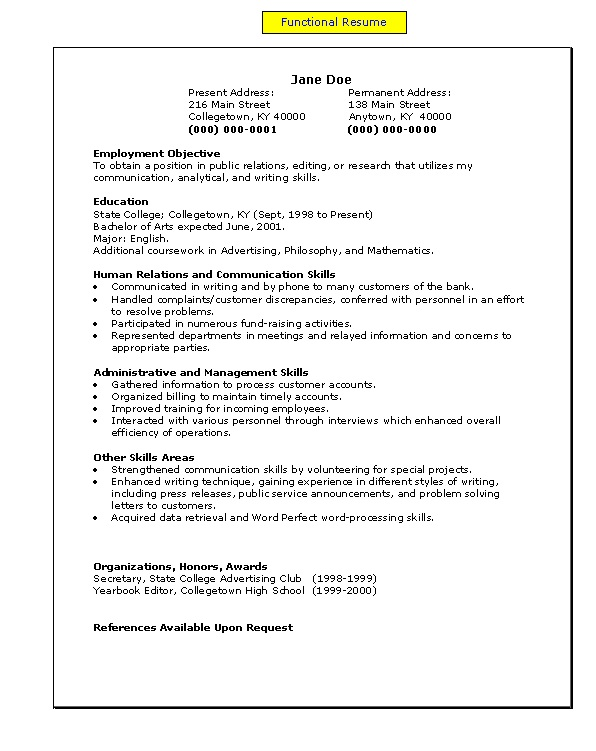 free resume model - Resume Models In Word Format