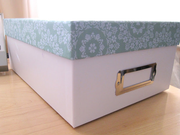 Happy Organized Home Covered Storage Boxes With Scrapbook Paper Diy