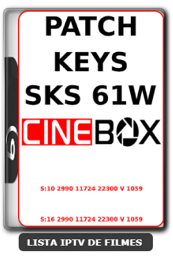 Cinebox Nova Atualização Patch Keys Satélite SKS 61w ON- 27-03-2020