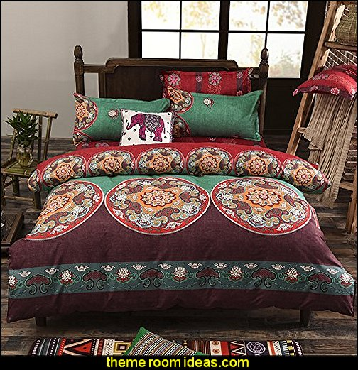 exotic Floral Design bedding exotic theme decorating ideas