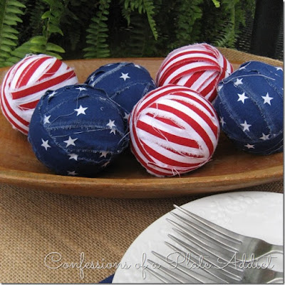 4th Of July Top 5 Projects - Stars and Stripes Rag Ball Filler - MLI