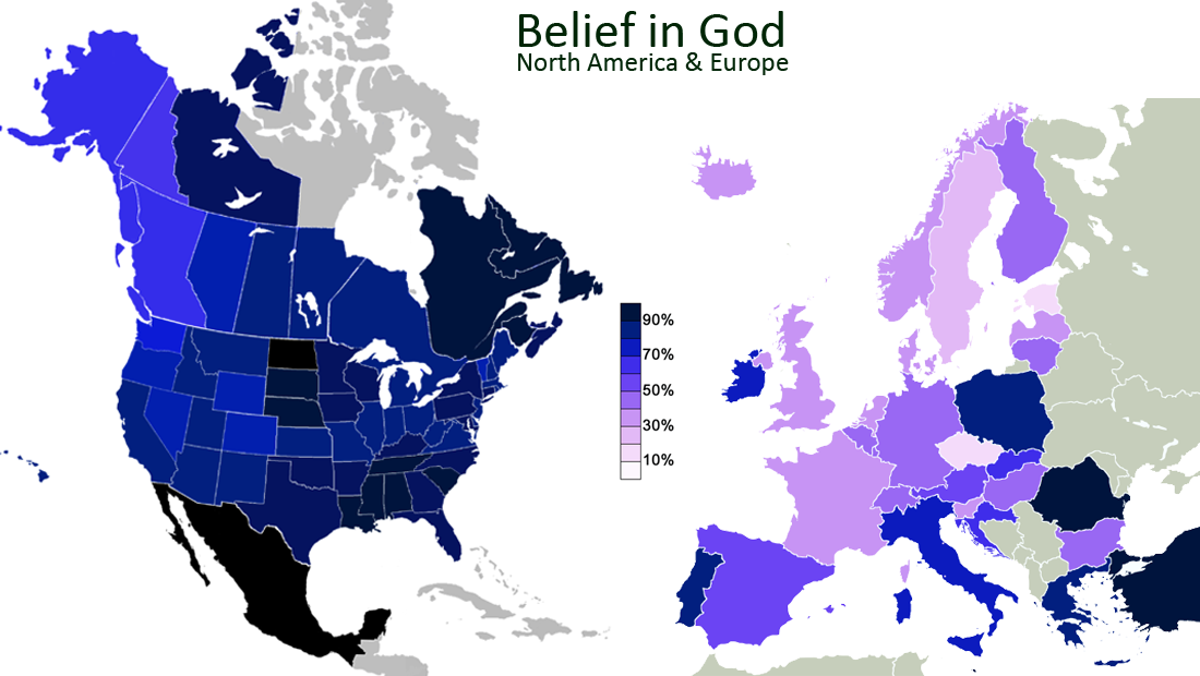 Belief in God (North America & Europe)