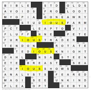 L A Times Crossword Corner