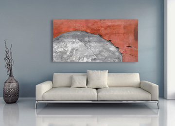 pink art, pink and grey art, large wall art, abstract art, terracotta, original art, buy art, gallery art, Sam Freek, contemporary art,