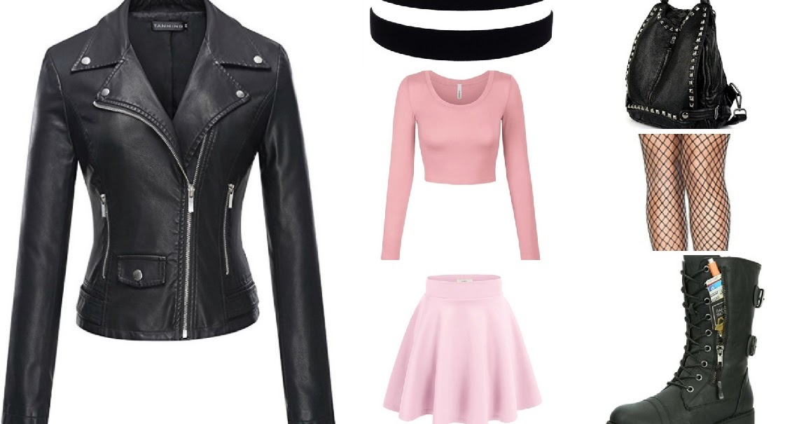 pastel pink  black  pastel goth outfit  researching the