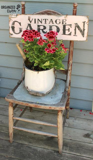 Junk Garden Chair Vignette