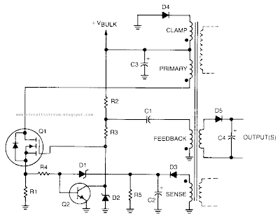 Simple Self Oscillating Switching Converter Circuit Diagram