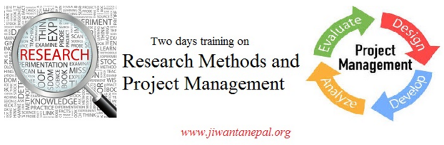 Research and project management training by JIwanta Nepal