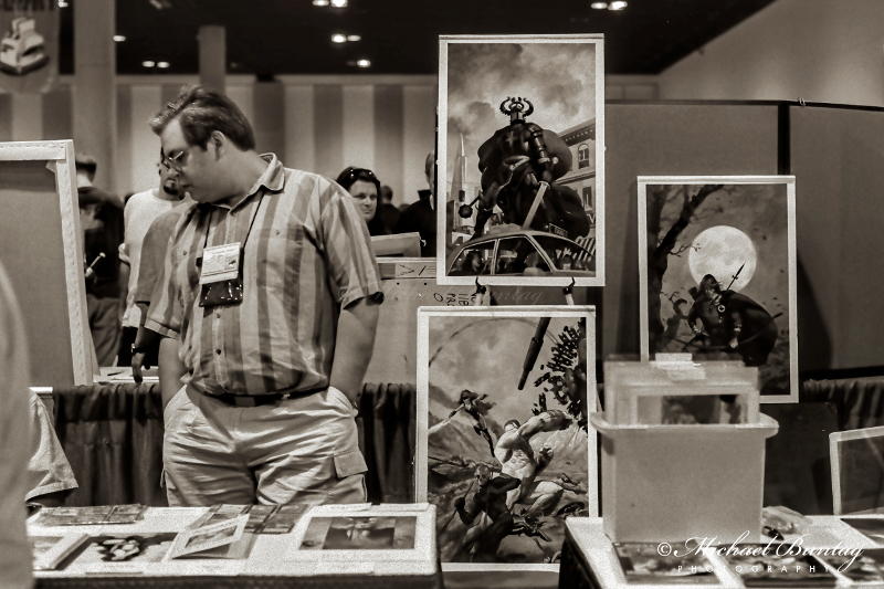 Christopher Moeller, Comic-Con International, San Diego Convention Center, Marina District, San Diego, California. Ilford HP5+ Black and White 35mm negative film. © Michael Buntag.