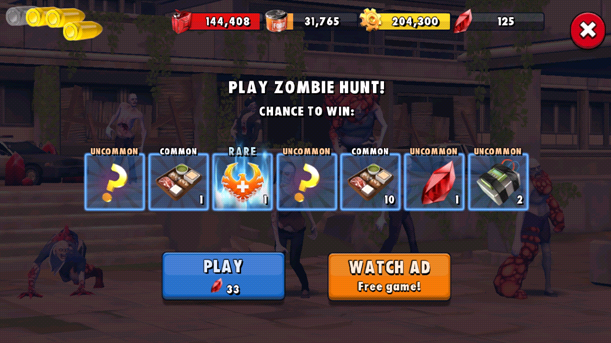 Bonus mini game in Zombie Anarchy