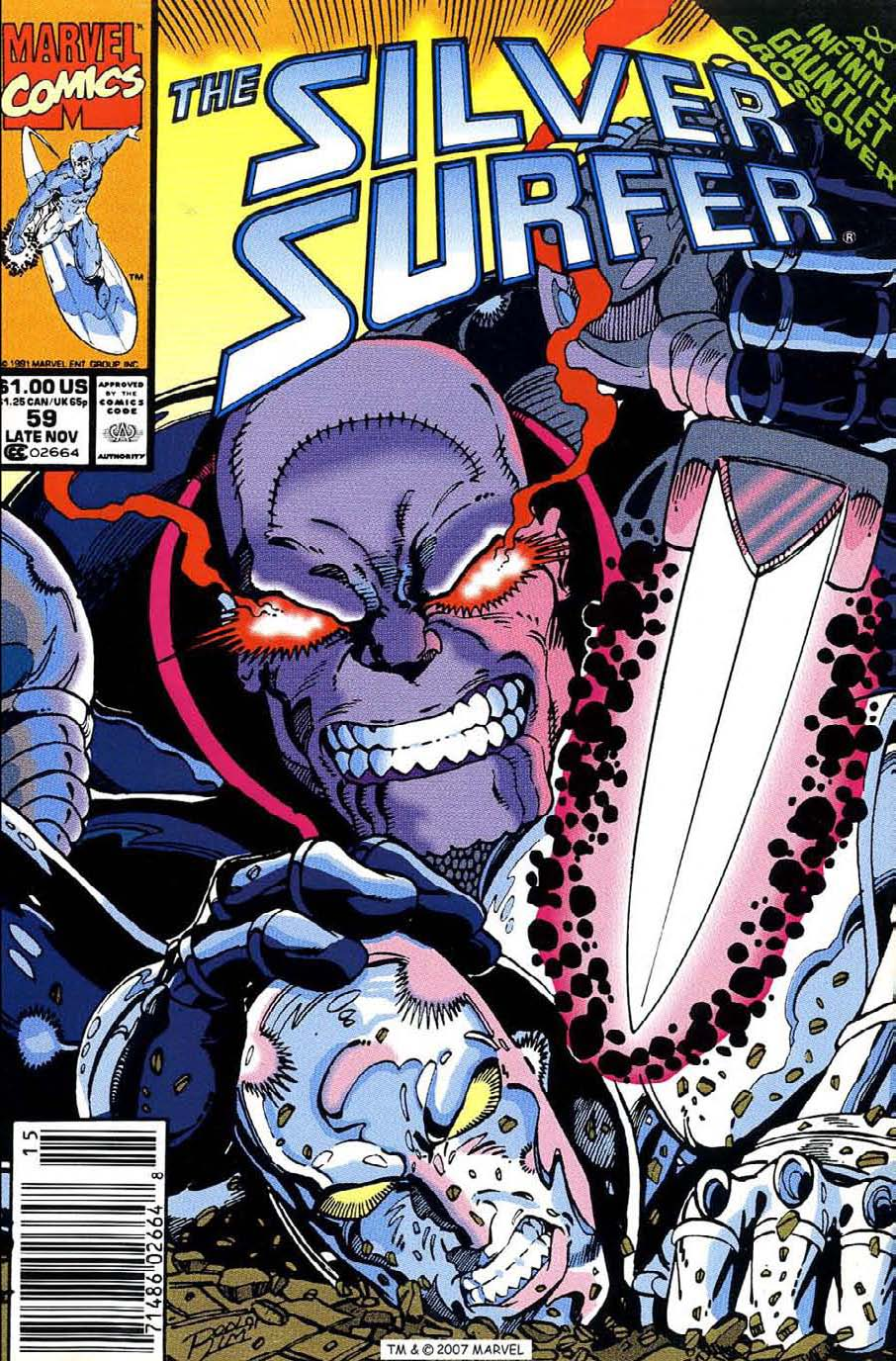 Read online Silver Surfer (1987) comic -  Issue #59 - 1