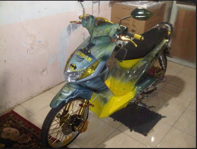 Modifikasi Honda Beat Airbrush Animasi