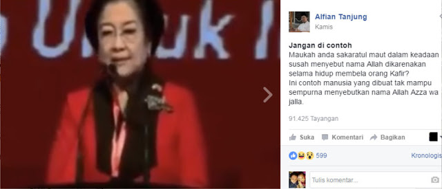 Astaghfirullah, Megawati Susah Sebut Nama Allah SWT.