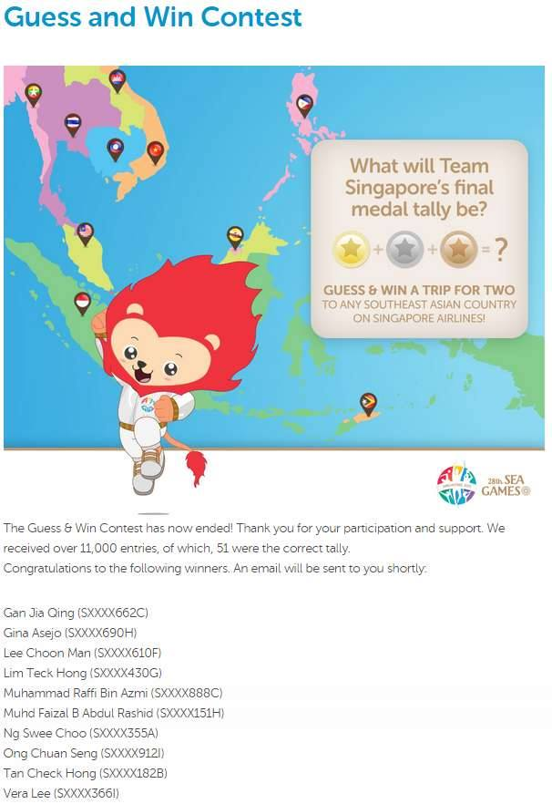 Sea Games Guess and   Win Contest  | www.meheartseoul.blogspot.com
