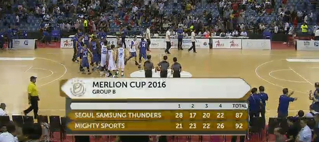 Mighty Sports PHL def. Seoul Samsung Thunders, 92-87 (REPLAY VIDEO) Merlion Cup 2016