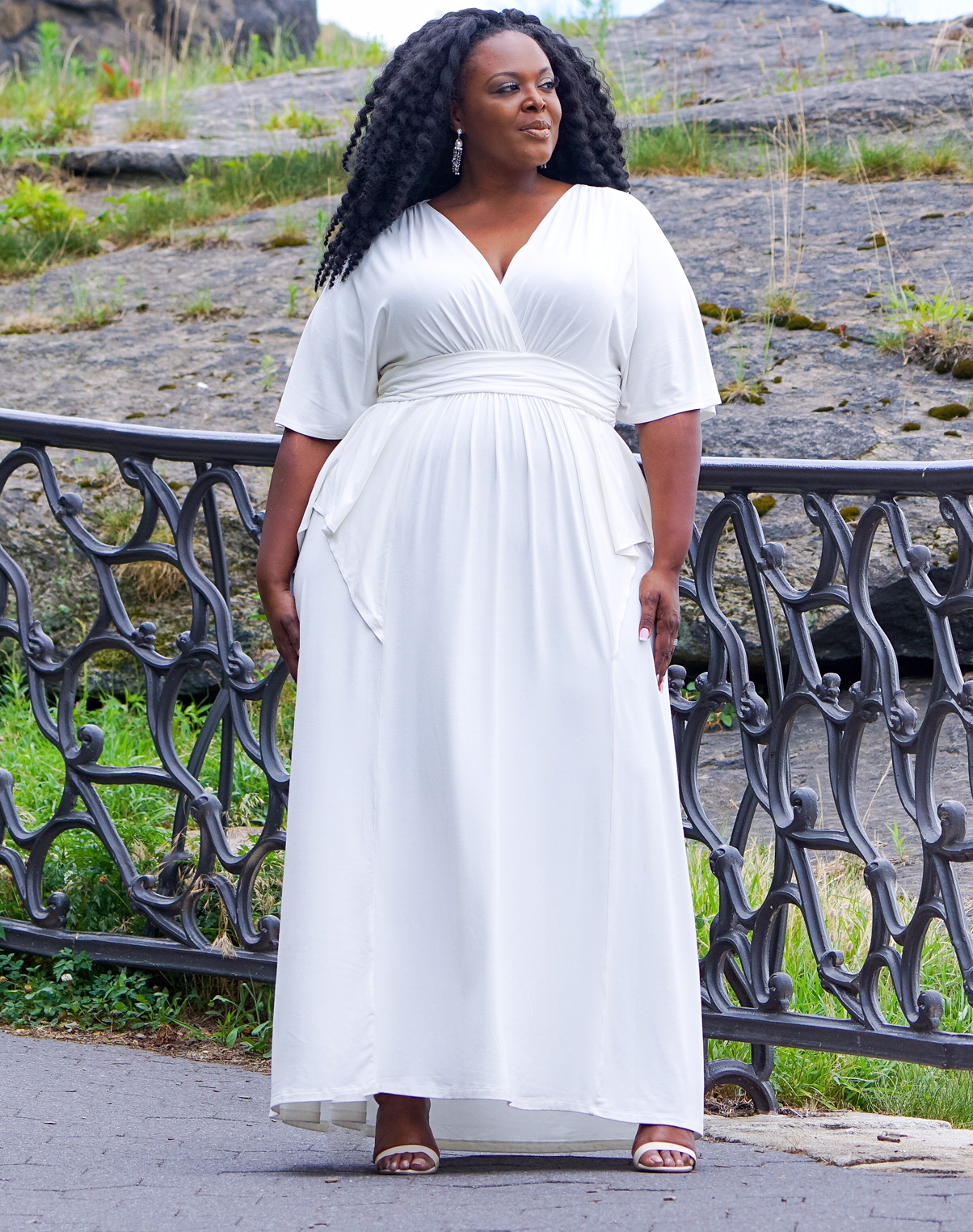 plus size white dress, kiyonna white dress, white plus size dress, plus size maxidress, kiyonna plus size dress
