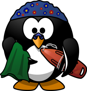 Summer beach Penguin Clip art