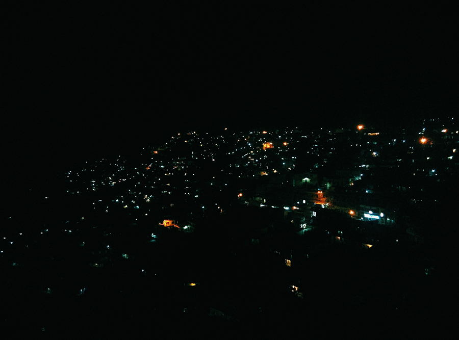 night view  almora india