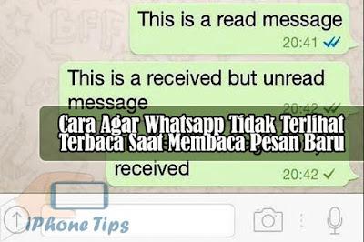 cara agar whatsapp tidak terlihat terbaca