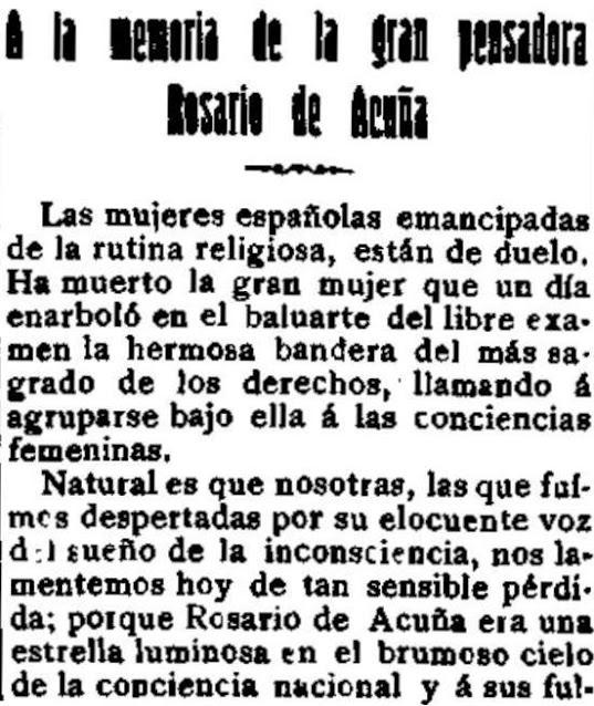 Fragmento del escrito publicado en El Motín (19-5-1923)]