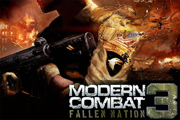 modern combat 3 apk تحميل