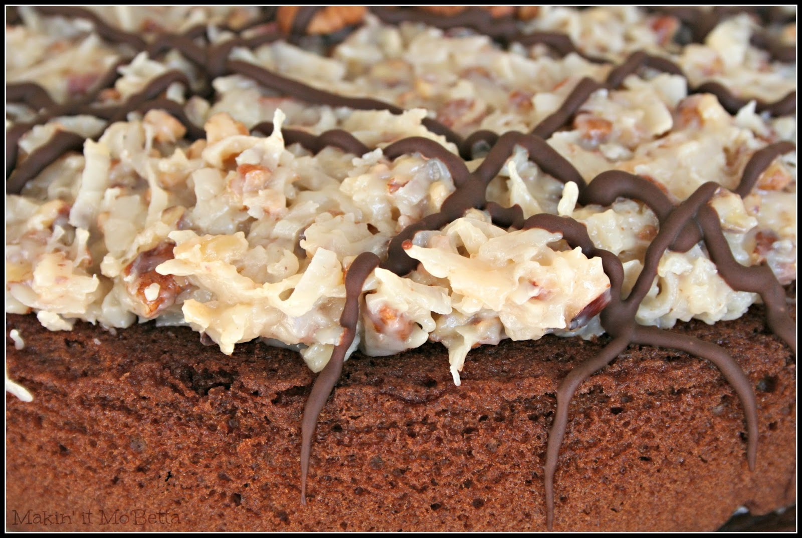 German Chocolate Cake With Pour Over Frosting