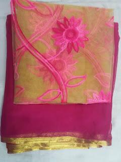 pink_chiffon_saree_nepal