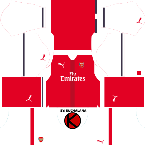 the best attitude 4340d 3b6a9 Arsenal Kits 2016/2017 - Dream League Soccer 2017 - Kuchalana